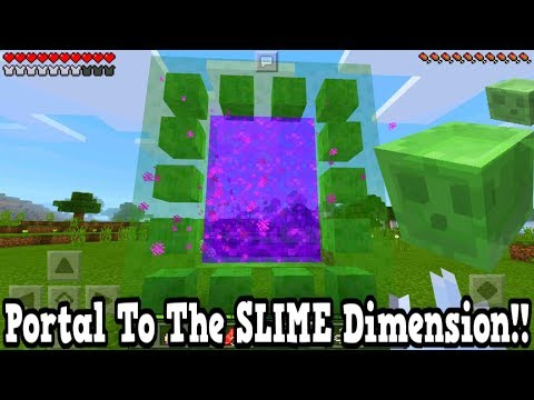 Minecraft Pe - Portal To The Slime Dimension - Mcpe Portal To The Slime!!!