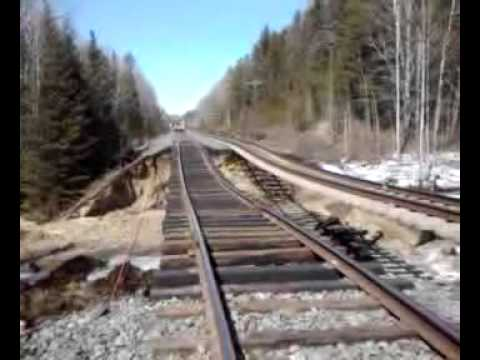 CN Rail Train Wash Out