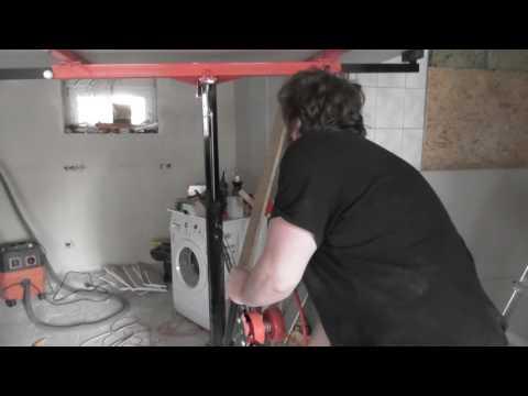 Plattenheber für Trockenbau, decke abhängen
