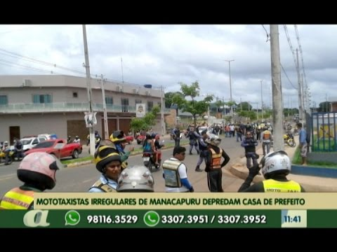 Em Manacapuru, mototaxistas irregulares depredaram casa de prefeito