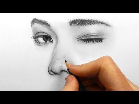 உலகில் மிக அதிகமானோர் பார்த்த தத்ரூபமான ஓவியம் Drawing, shading and blending a minimalistic face with Faber Castell graphite pencils | Emmy Kalia