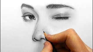 Video Drawing, shading and blending a minimalistic face with graphite pencils MP3, 3GP, MP4, WEBM, AVI, FLV Desember 2018