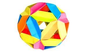 3D оригами гипер шар из бумаги