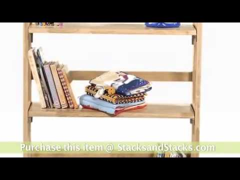 Stackable 3-Shelf Folding Bookcase at Stacks and Stacks