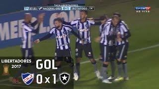 Gol - Nacional (URU) 0 x 1 Botafogo - 1º jogo Oitavas Libertadores 2017 - 06/07/2017Narração: Júlio Oliveira, Comentários: Ricardo RochaEstádio: Parque Central