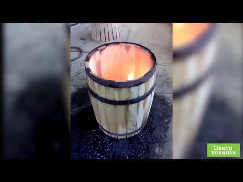 Видео Дубовая бочка 225 литров (Колотый дуб)