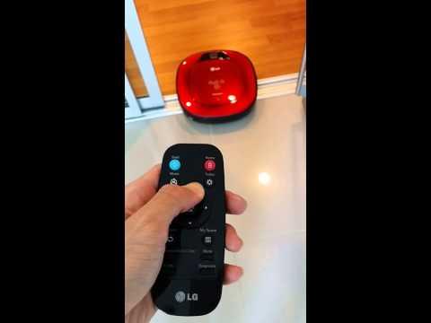 LG HomBot manual control (видео)