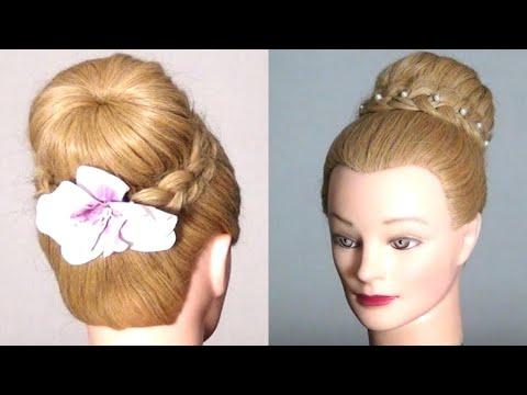 Пучки и косы для длинных волос
