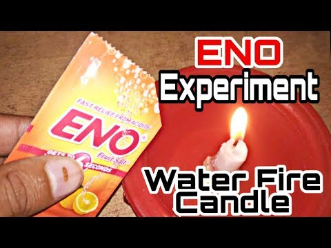 Eno Experiment ||eno Water Fire Candle || Science Experiment ||