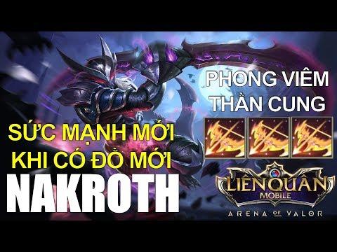 NAKROTH tăng sức mạnh khi cầm Phong Viêm Thần Cung trong phiên bản mới Liên quân mobile