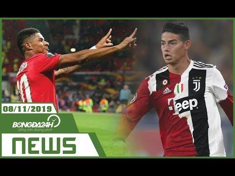 TIN NÓNG BÓNG ĐÁ 8/11   MU đại thắng ở Europa League, Ronaldo làm SIÊU CÒ giúp Juve mua James