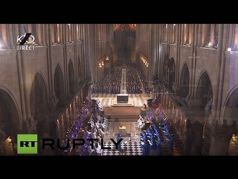 LIVE: Evening Mass at Notre-Dame Cathedral in remembrance of the victims of the Paris attacks