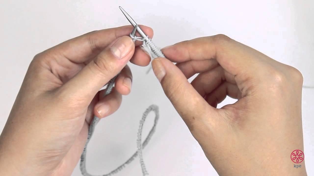 Knitting with circular needle
