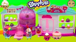 Shopkins Season 4 Cupcake Queen Cafe Cake Bakery Playset with 2 Exclusives Unboxing Video