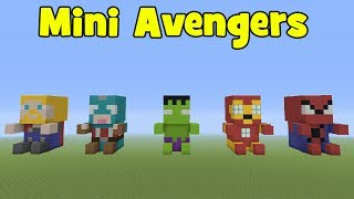 The Avengers In Minecraft: Avengers Plushies/Mini Avengers