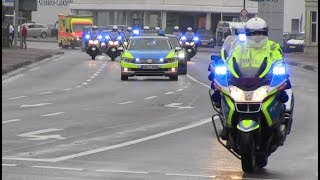 Video [Uncut] German presidential motorcade with Lower Saxony State Police and Ambulance MP3, 3GP, MP4, WEBM, AVI, FLV Agustus 2018
