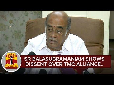 TMC-Senior-Leader-S-R-Balasubramaniam-expresses-Dissent-over-TMC-Alliance-Thanthi-TV