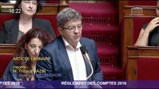 Le 18 juillet 2017 à l'Assemblée nationale était examiné le règlement des comptes pour l'année 2016. À cette occasion, Jean-Luc...