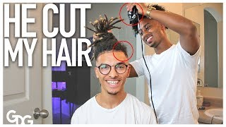 I let diddy cut my hair todayGunther Da GreatFOR THE OG'S: http://bit.ly/2nPtL7lSECOND CHANNEL: https://www.youtube.com/c/gunslockedmusic: itsmejamisonF O L L O W   M E !FACEBOOK: https://www.facebook.com/GuntherDaGreat/TWITTER: https://twitter.com/GuntherDaGreatINSTAGRAM: https://www.instagram.com/guntherdagreat/SNAPCHAT: gundolfinCONTACT ME: guntherdagreat@gmail.comOTHER CHANNELS                I               VEatmon Brothers: https://www.youtube.com/c/eatmonbrothersChandler Eatmon: https://www.youtube.com/user/YCTHEofficialDonateDaily: https://www.youtube.com/channel/UCa25IPHwHFEKRlHaUKRqfhgEQUIPMENT:Camera: Canon Rebel T6iMicrophone: Rode VideoMicro Compact On-Camera MicrophoneEditing Software: Adobe SystemsLens: 18-55mm Canon, 8mm Rokinon, 50mm Canon