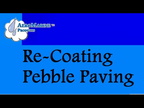 ... Re Coating Pebble Paving With Epoxy Resin Watch Video