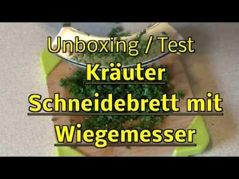 Kräuterschneidebrett mit Wiegemesser ! Unboxing Test ! Zubehör zum Kochen !