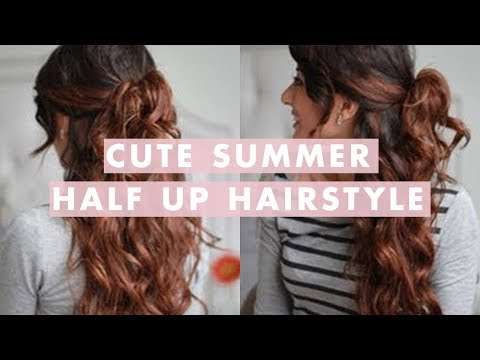 party hairstyle - This is a great hairstyle for summer. Takes only a few minutes , especially if your natural hair is already wavy or curly. For this hairstyle I have used: - ...
