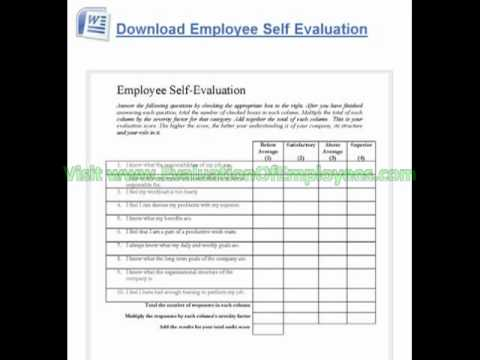 Sample Employee Evaluation