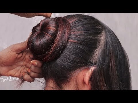 Easy Wedding/Party Hairstyles   Puff Hairstyles   Hairstyles for medium long hair   2018 hairstyles