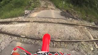 6. GOPRO HD crf230f trail riding part 1