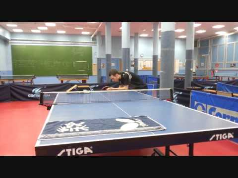Exercice service tennis de table