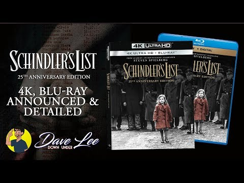 SCHINDLER'S LIST 25th Anniversary Edition - 4K, Blu-ray Announced & Detailed