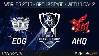 EDG vs AHQ - World Championship 2016 - Group Stage Week 1 Day 2