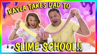 Video KAYLA TAKES DAD TO SLIME SCHOOL | We Are The Davises MP3, 3GP, MP4, WEBM, AVI, FLV Maret 2019