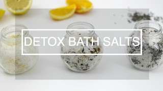 diy detox bath salts aromatherapy