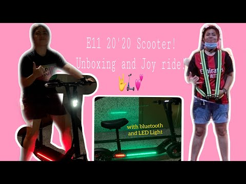New escooter E11 20'20! with Bluetooth and LED light