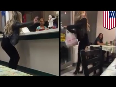Video Angry customer throws epic tantrum at in kebab shop, door hits her on the way out - TomoNews download in MP3, 3GP, MP4, WEBM, AVI, FLV January 2017