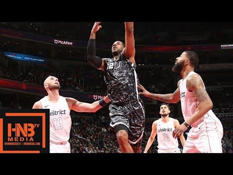 San Antonio Spurs vs Washington Wizards Full Game Highlights / March 27 / 2017-18 NBA Season (видео)