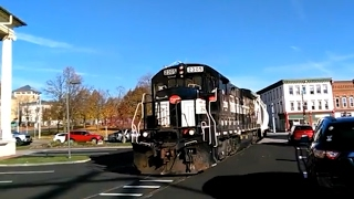 Canandaigua (NY) United States  City pictures : Finger Lakes Railway Train At Canandaigua, New York