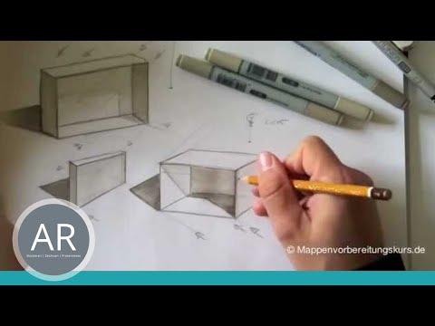 Zeichnen lernen, Skizze – Schattierung und Tiefe –  Akadmie Ruhr, Tutorials