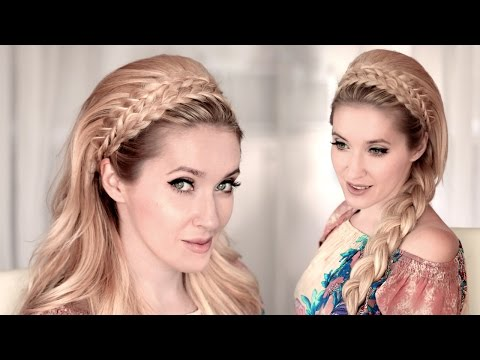 4 Braided headband hairstyles with big teased hair tutorial ❤ 60s look