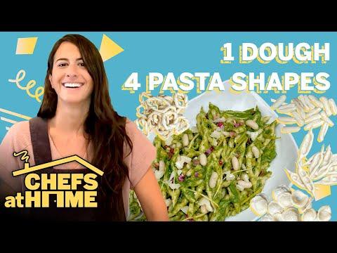 1 Pasta Dough 4 Ways (Orecchiette, Cavatelli, Lorighittas, & Capunti) | Chefs At Home | Food & Wine