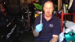 8. triumph sprint 1050 gt part 4 Simple motorbike oil & filter change same all bikes