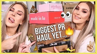 My BIGGEST PR Unboxing Haul Ever... wow 😅💸 & GIVEAWAY! by Shaaanxo