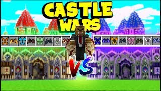 2VS2 *WINGS AND TECH GUNS MOD* CASTLE WARS W/ SKYDOESMINECRAFT - MINECRAFT MODDED MINIGAME!