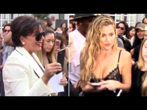 Khloe Kardashian And Kris Jenner Asked How Kim Is Holding Up At Khloe's Denim Line Launch