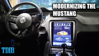 Installing a TESLA SCREEN In My Mustang GT! Modernizing the Mustang by That Dude in Blue