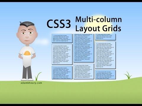 CSS3 Multi Column Layout Grid Tutorial