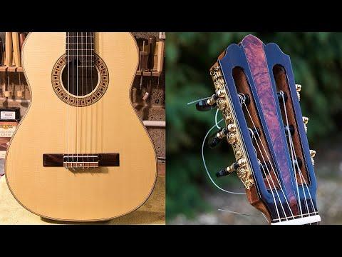 תהליך הבניה של גיטרה ספרדית