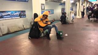 "Video Subway performer stuns crowd with Fleetwood Mac's ""Landslide""- Chicago, Il- Blue Line, Washington S MP3, 3GP, MP4, WEBM, AVI, FLV Maret 2018"