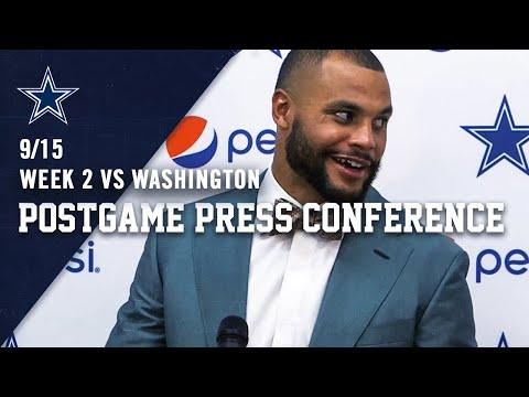 Dak Prescott Postgame Week 2 vs Washington Redskins   Dallas Cowboys 2019